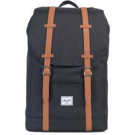 Herschel Retreat Mid-Volume Mochila 14l, black/tan synthetic leather